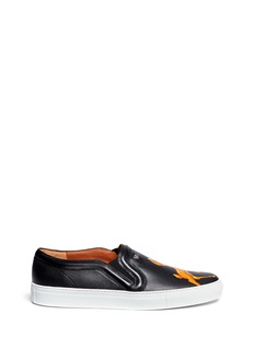 GIVENCHYBambi collage print leather skate slip-ons