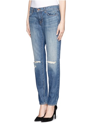 Detail View - Click To Enlarge - J Brand - 'Jake' distressed slim boyfriend jeans