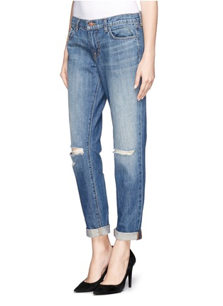 Front View - Click To Enlarge - J Brand - 'Jake' distressed slim boyfriend jeans