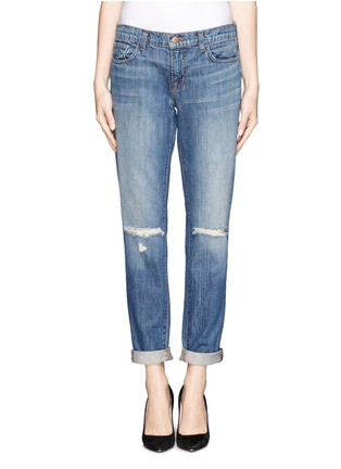 Main View - Click To Enlarge - J Brand - 'Jake' distressed slim boyfriend jeans