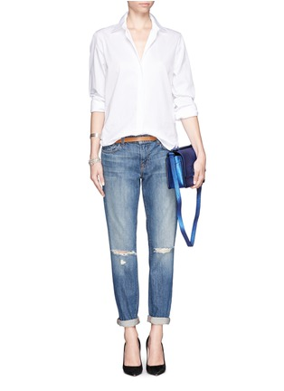 Figure View - Click To Enlarge - J Brand - 'Jake' distressed slim boyfriend jeans