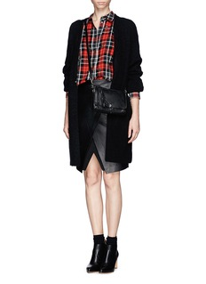 ELIZABETH AND JAMES 'Carine' Rivet Tartan Shirt
