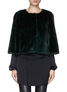 YVES SALOMON Mink cropped capelet jacket