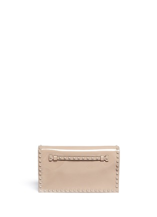 Main View - Click To Enlarge - Valentino - 'Punkouture Rockstud' patent leather foldover clutch
