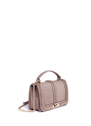 Detail View - Click To Enlarge - Rebecca Minkoff - 'Love' curb chain quilted leather crossbody bag