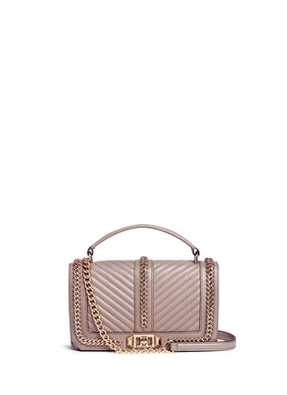 Main View - Click To Enlarge - Rebecca Minkoff - 'Love' curb chain quilted leather crossbody bag