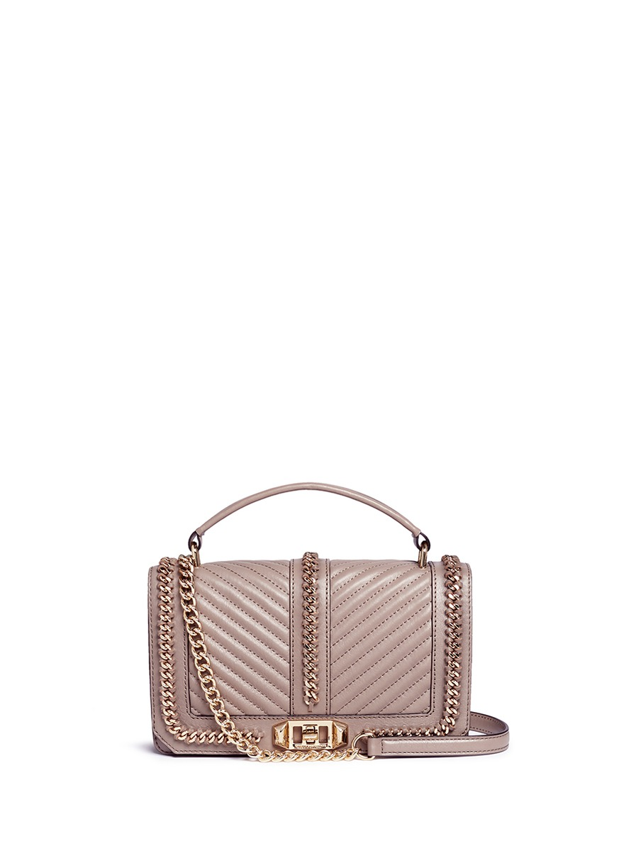 Love curb chain quilted leather crossbody bag by Rebecca Minkoff