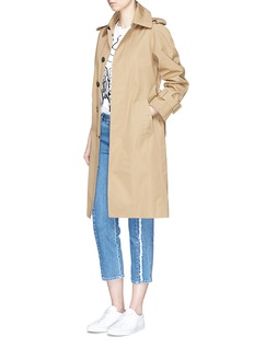 Stella McCartneyFrayed seam cropped boyfriend jeans
