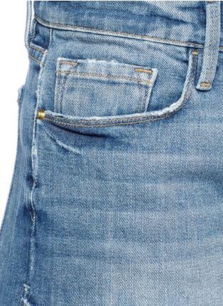 Detail View - Click To Enlarge - Frame Denim - 'Le Cutoff Tulip' denim shorts