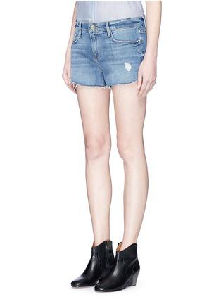Front View - Click To Enlarge - Frame Denim - 'Le Cutoff Tulip' denim shorts