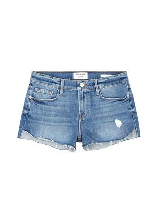 Main View - Click To Enlarge - Frame Denim - 'Le Cutoff Tulip' denim shorts