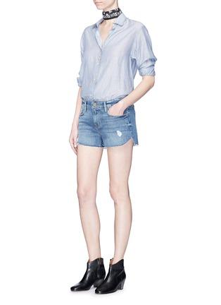 Figure View - Click To Enlarge - Frame Denim - 'Le Cutoff Tulip' denim shorts