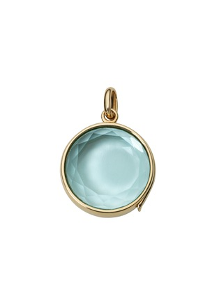 Main View - Click To Enlarge - Loquet London - 14k yellow gold topaz round locket - Medium 18mm