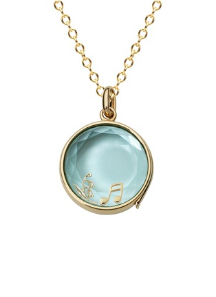Figure View - Click To Enlarge - Loquet London - 14k yellow gold topaz round locket - Medium 18mm