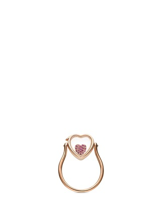 Loquet London - 18k yellow gold sapphire heart charm - Sweetheart