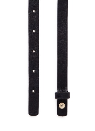 Detail View - Click To Enlarge - Maison Boinet - Stud leather skinny belt