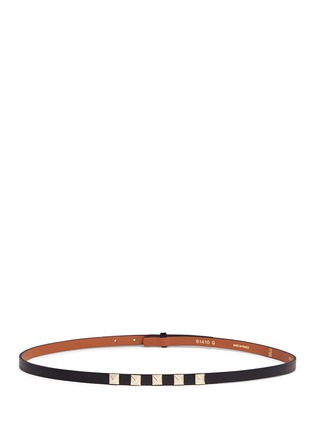 Main View - Click To Enlarge - Maison Boinet - Stud leather skinny belt
