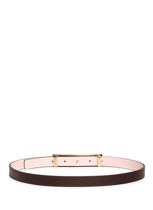 Back View - Click To Enlarge - Maison Boinet - Reversible leather belt