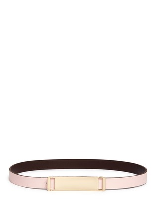 Figure View - Click To Enlarge - Maison Boinet - Reversible leather belt