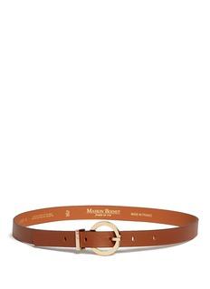 Maison BoinetRound buckle leather belt