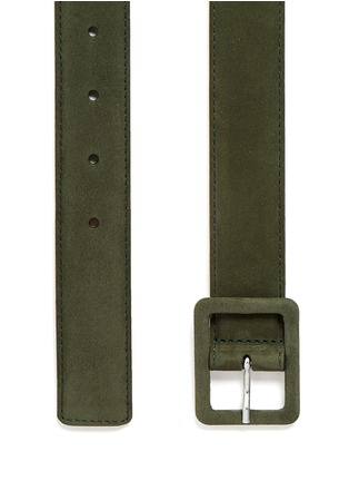 Detail View - Click To Enlarge - Maison Boinet - Nubuck leather belt
