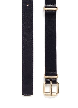 Detail View - Click To Enlarge - Maison Boinet - Buckle loop leather belt