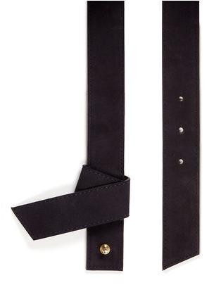 Maison Boinet-Origami fold suede belt