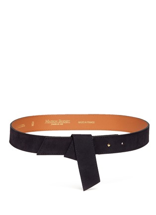 Main View - Click To Enlarge - Maison Boinet - Origami fold suede belt