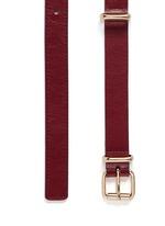 Buckle loop leather belt