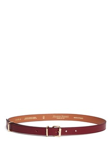 Maison Boinet Buckle loop leather belt