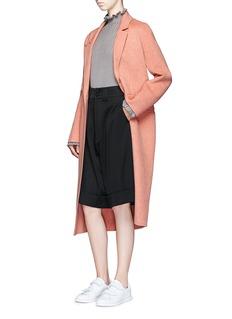 ChictopiaFoldup cuff wool oversized shorts