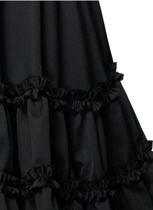 Detail View - Click To Enlarge - Chictopia - Ruffle trim wool twill flared skirt