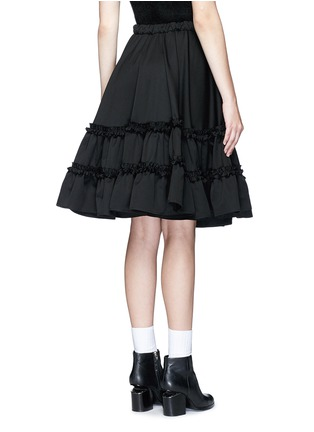 Back View - Click To Enlarge - Chictopia - Ruffle trim wool twill flared skirt