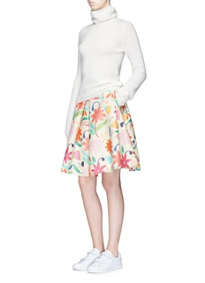 Chictopia Floral print wool blend flared skirt