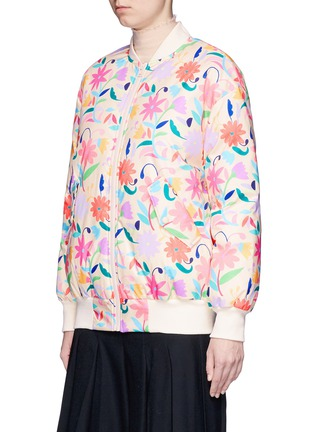 Front View - Click To Enlarge - Chictopia - Floral print down bomber jacket