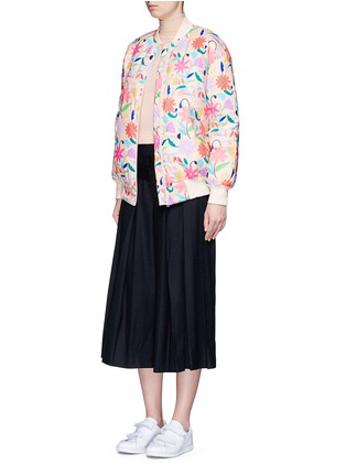 Figure View - Click To Enlarge - Chictopia - Floral print down bomber jacket
