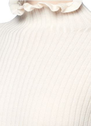 Detail View - Click To Enlarge - Chictopia - Ruffled turtleneck rib knit bodysuit
