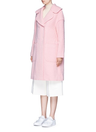 Front View - Click To Enlarge - Chictopia - Brushed virgin wool blend coat