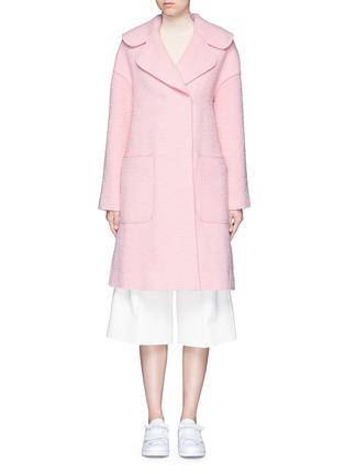 Main View - Click To Enlarge - Chictopia - Brushed virgin wool blend coat