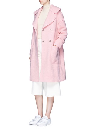 Figure View - Click To Enlarge - Chictopia - Brushed virgin wool blend coat