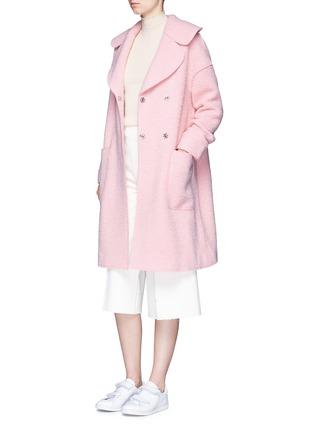 Figure View - Click To Enlarge - Chictopia - Brushed virgin wool blend coat