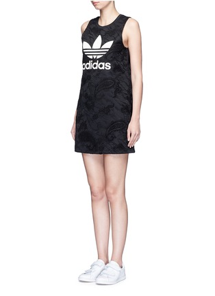 Front View - Click To Enlarge - Adidas - Trefoil print embroidered paisley tank dress