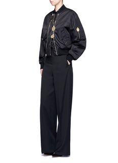 GivenchyDouble zip oversized bomber jacket