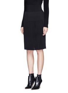 GivenchyPlissé pleat knit skirt