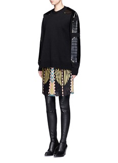 Givenchy Crazy Cleopatra print plissé pleated georgette skirt