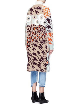 Back View - Click To Enlarge - Opening Ceremony - x Syd Mead sequins leopard jacquard coat