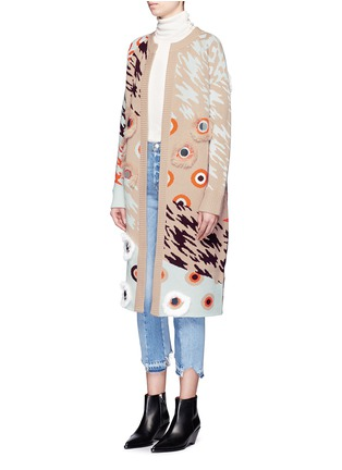 Front View - Click To Enlarge - Opening Ceremony - x Syd Mead sequins leopard jacquard coat