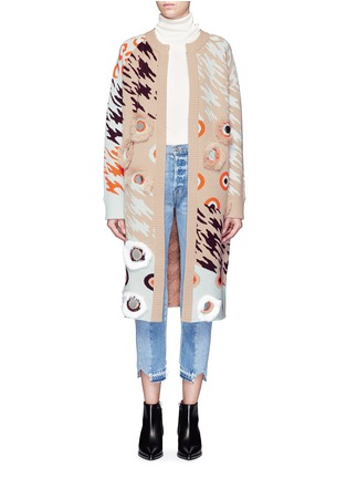 Main View - Click To Enlarge - Opening Ceremony - x Syd Mead sequins leopard jacquard coat