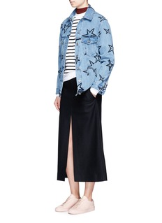 Etre Cecile  Oversized star embroidered denim jacket