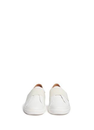 模特儿示范图 - 点击放大 - BING XU - 松紧搭带皮革平底便鞋